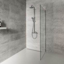Picture of Kerradeco grey stone wall panels in shower