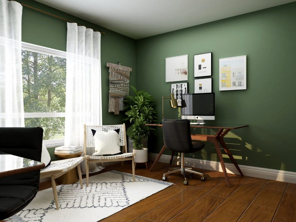 Ergonomically designed office space for the home